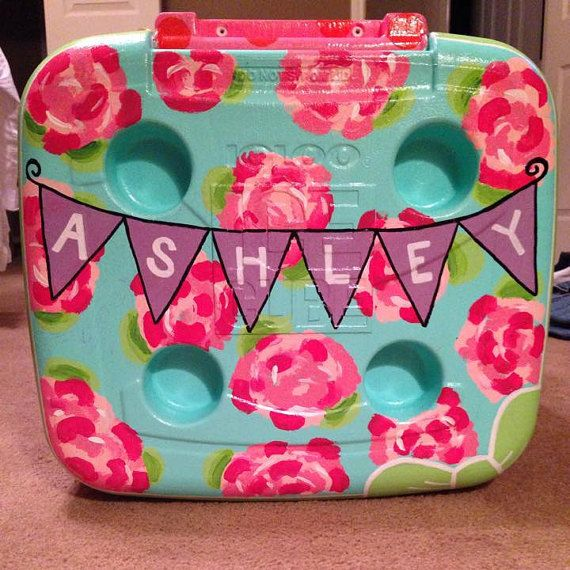 Hand Painted Cooler by AshleysGiftShop on Etsy