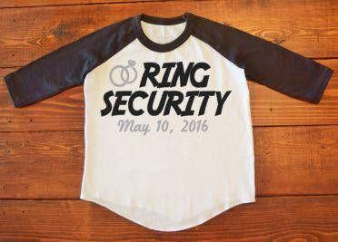 Ring Security Baseball Tee Shirt//Ring Bearer Raglan Tee Shirt//Kids Baseball Shirt//Ring Security Shirt by ButlerTees on Etsy