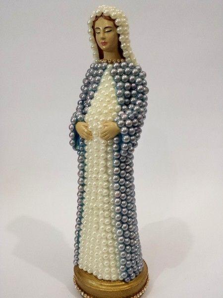 Nossa Senhora Grávida com pérolas – 22 cm