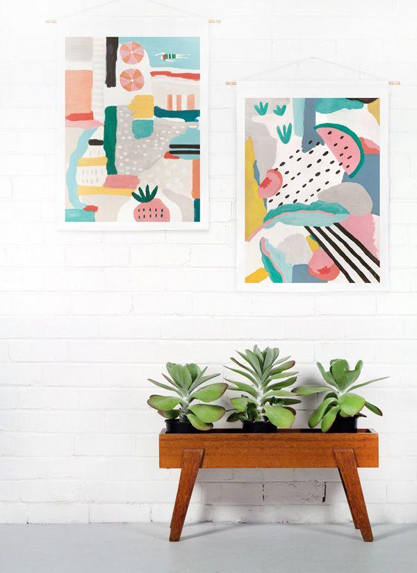 Swiden Coast Wallhangings via @Matty Chuah Design Files