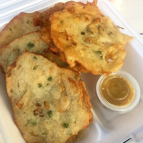 Salt Fish Fritters recipe at http://jamaicans.com/sfritter/  by @m10barandgrill #jamaica #jamaicanfood #saltfish #fritters #cooking