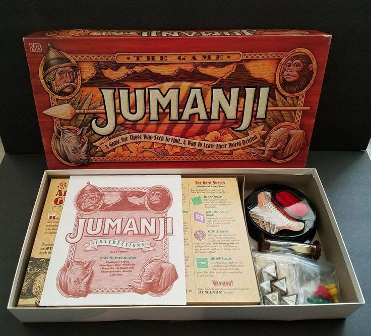 Jumanji Board Game Milton Bradley Original 1995 With Box Complete #MiltonBradley