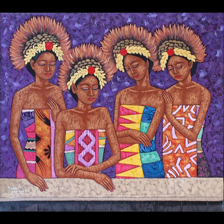 To emphasize the overall fresh look of your room, we have this colourful painting of Balinese girls in their bright dresses. So fresh and vibrant! #pimentrouge #bali #lighting #homedecor #interior #design #styling #traditional #painting #fresh #bright #vibrant #bold #newyear