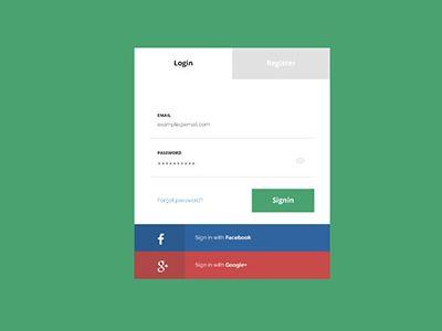 Flat Login Page Design Free Psd Download Login Page Design Login Page Login Design