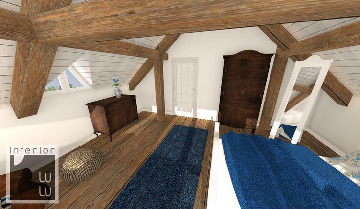Sypialnia w drewnie, ciepłe kolory w sypialni
