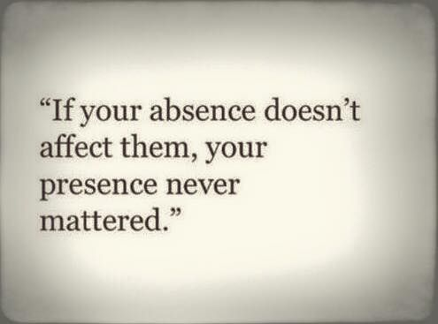 Oh Bby believe me your absence is like getting stabbed to the ground every second