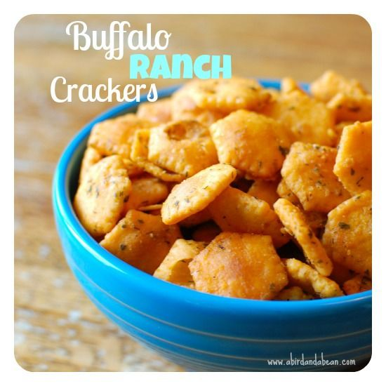Baked Buffalo Ranch Crackers--I doubled the recipe, but I think next time I will increase the amount of Franks used.  I also added a little bit of garlic powder when they came out of the oven.  Overall a pretty tasty and quick snack!