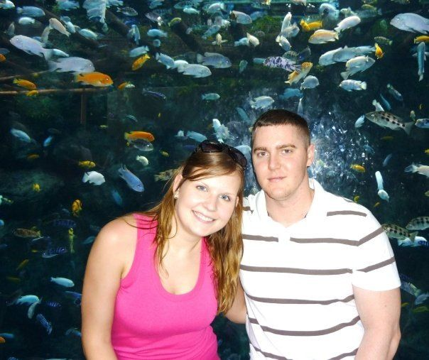 Daughter-in-Law Kasia and son Blake,  and lots of fish.