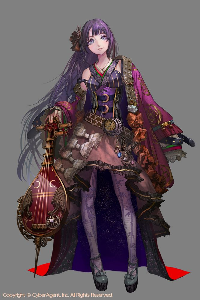 Of all the bards out there, there is one who takes the most pride in her work...  And draws as much attention to herself as possible.  Her voice is beautiful and captivating.  Her posture, clothing and appearance all make her seem rather young even though she's older than she appears.  Some people believe her music is enchanted.  If it was she'd have more power than most could dream of.