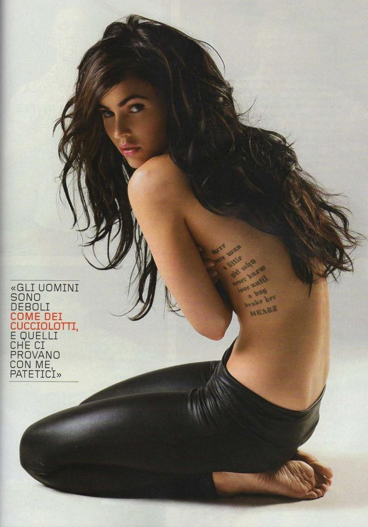 Megan Fox's tattoo: There once was a little girl who never knew love until a guy broke her heart.: Megan Fox, Girl, Tattoo Placement, Meganfox, Tattoos, Tattoo'S, Foxes, Hair