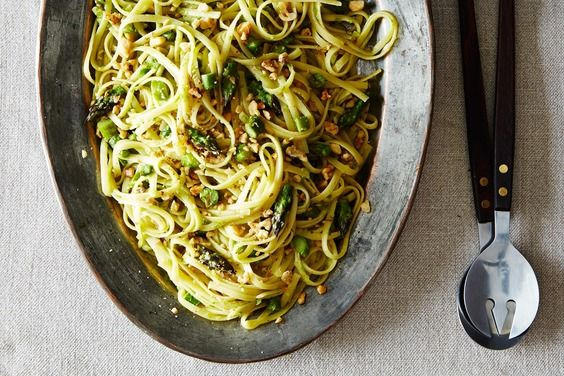Creamy Asparagus, Lemon, and Walnut Pasta, a recipe on Food52