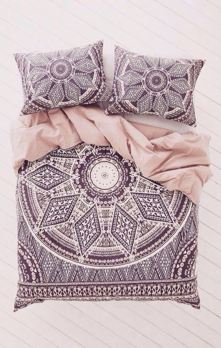 Solid dark purple bedding - Bohemian Room