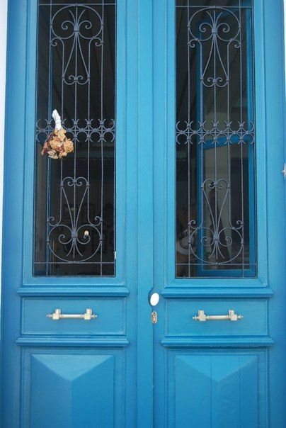 Symi - Σύμη. Blue door