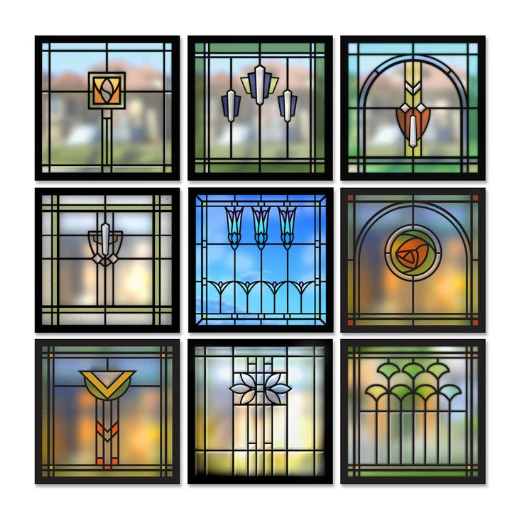 9 Windows - Arts & Crafts - Craftsman - Bungalow - Home - Detail  I would like to have some art glass in the kitchen - our kitchen sink windows look directly into our neighbors yard/house and I really hate the idea of curtains near my sink (or in the kitchen in general)!