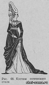 История костюмов готический стиль