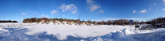 Kapellhamnen i vårväder (iPhone panorama)