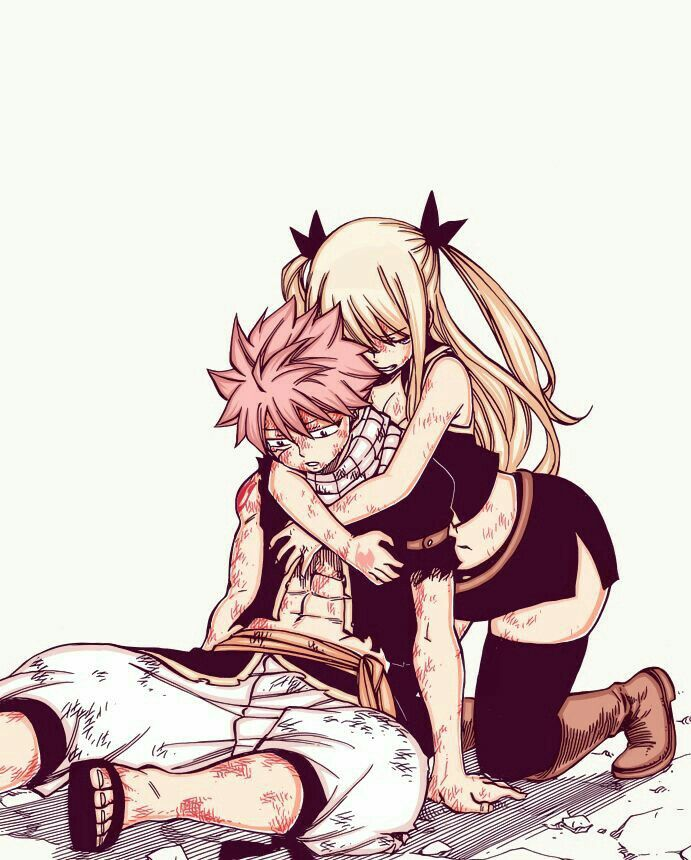 Lucy and Natsu.  Fairy Tail.