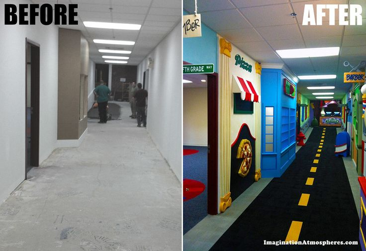Quot Before And After Quot Of A Hallway For A Children S Church