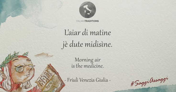 Our friends from #Friuli convinced lazy #AnDante to enjoy the fresh morning air! Goodevening from#ItalianTraditions!     # Saggiassaggi #dailyquotes
