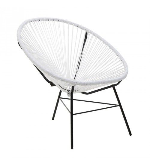 PVC_METALLIC CHAIR IN WHITE COLOR 72Χ80Χ80