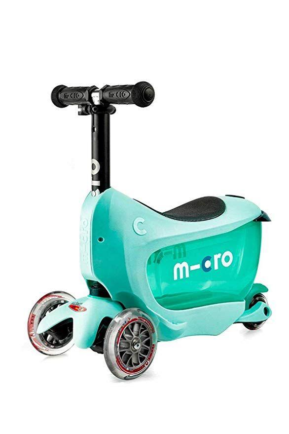 Micro Scooters Mini2Go Deluxe Plus 4 In 1 Kids 3 Wheel Adjustable Mini Scooter