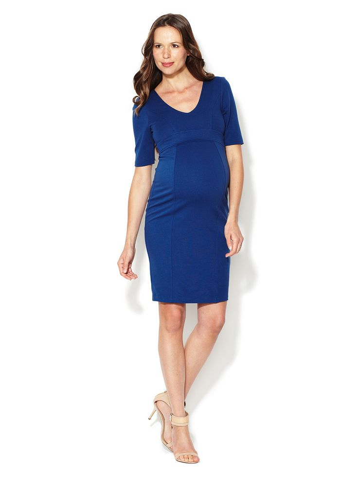 45% OFF Tailored Knit Maternity Dress #Dress #Zip closure #Tie #Gowns #KidsBaby #Maternity