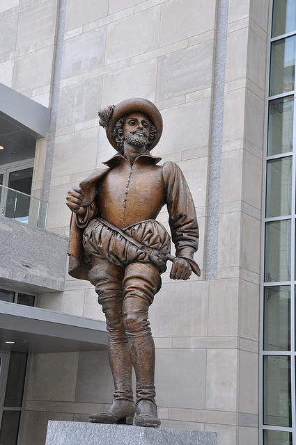 Sir Walter Raleigh Statue at the Raleigh Convention Center