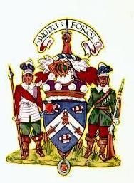 """McKee family crests including the family motto """"Manu Forti"""" - meaning """"with a strong hand"""""""