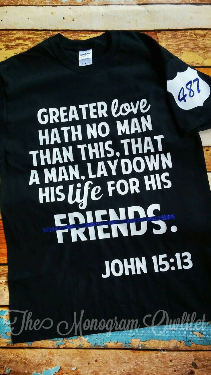 Black keys t shirt etsy - Police Support T Shirt With Bible Verse By Themonogramowltlet On Etsy Https