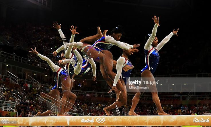U.S. Olympic Team Retweeted  Getty Images Sport ‏@GettySport  Aug 11 Poetry in motion. @Simone_Biles #TeamUSA #Rio2016   : Mike Ehrmann  U.S. Olympic Team, USA Gymnastics, FIG and Rio 2016