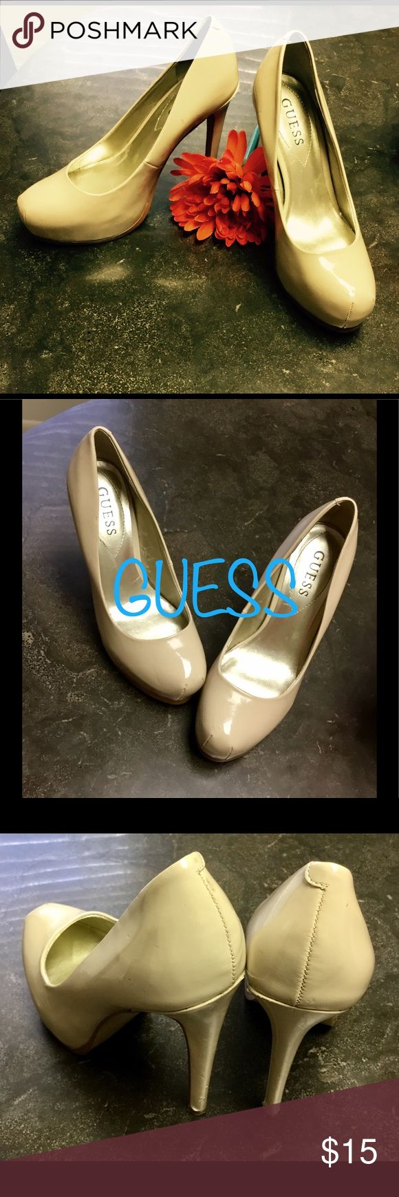 Guess Beige Pumps Size 6 Guess Beige Pumps Size 6. In good condition! Only minor Wear (pictured). Great for many occasions. Please feel free to check out my other items and I offer bundle pricing! #Discount #Bundle #Cheap #Gift #Deal #Gift #Kotas Will offer free card and wrapping, if sent as gift! Please include occasion and special message. Guess Shoes