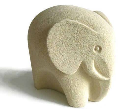Mid Century Modern Sand Stone Elephant by 20thCenturyEurope, €75.00