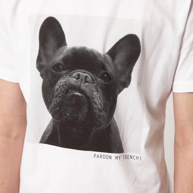 pardon t shirt by a question of fashion french bulldog. Black Bedroom Furniture Sets. Home Design Ideas