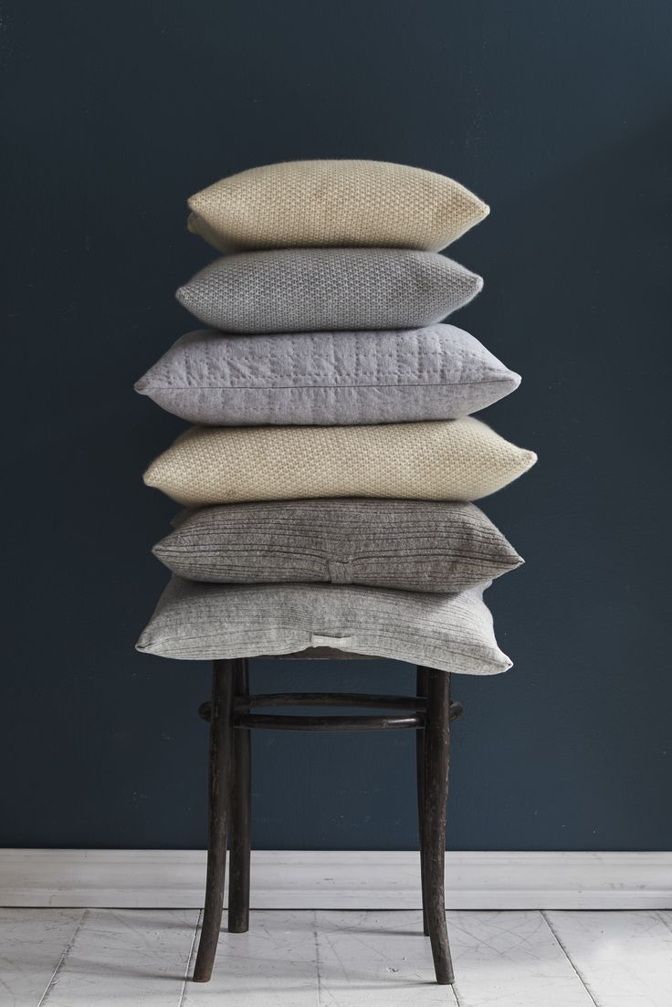 care by me pillow_pile  cotton/cashmere/wool- knit - made in Nepal - danish design