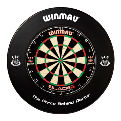 New Winmau Dart Board Surrounds (Black):   Winmau Dartboard Surrounds protect the area around the dartboard from stray darts. Perfect for home or club use. Printed versions include Winmau and BDO logos for a professional look. Suitable for all Winmau bristle dartboards excluding Rebel. Dartboard not included.