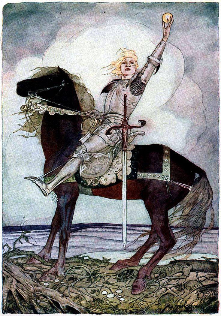 Art by Gustaf Tenggren (1923) from GRIMM'S FAIRY TALES. PUBLIC DOMAIN