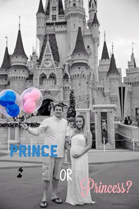 Gender reveal at Disney