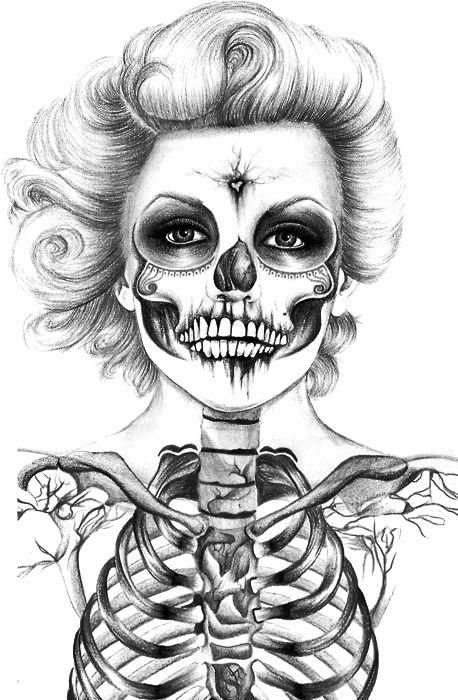 37 Best images about coloriage skull on Pinterest