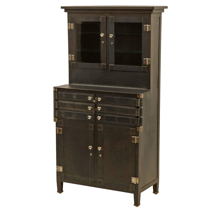 Petite Steel Medical Cabinet by Lee Smith & Son, circa 1920s