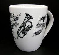 Tasse Flügelhorn ♫♪ ☕ www.musiker-geschenke.com/Tassen