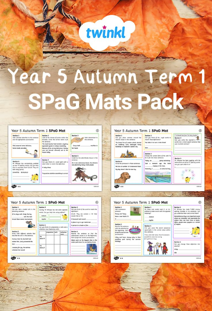 - Use These SPaG Activity Mats To Revise Key Skills In Grammar