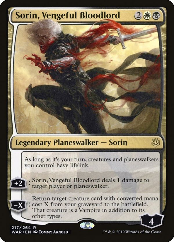 1x Sorin Foil Planeswalker Deck Exclusive NM-Mint English Core Vampire Lord