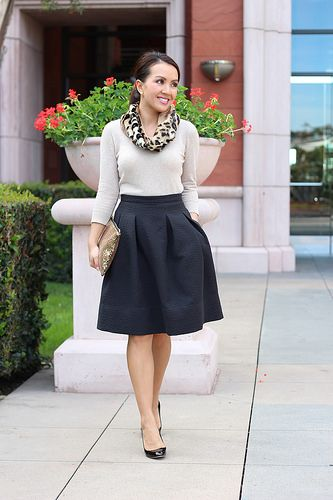 HM Crinkle Skirt and Gold Sequin Clutch-5 by Stylish Petite, via Flickr