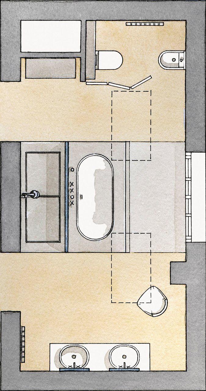 Un baño parisino en la buhardilla · ElMueble.com · Cocinas y baños