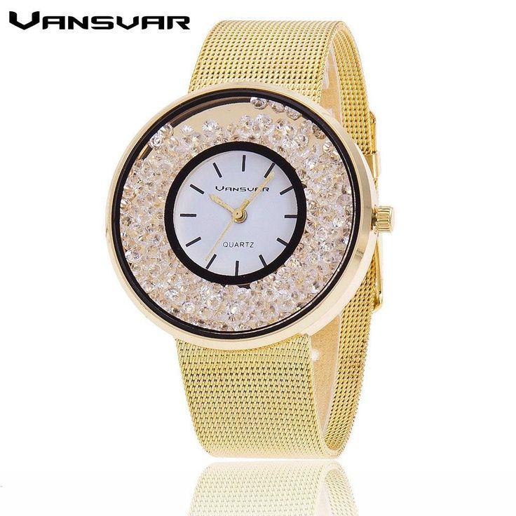 Hot Fashion Stainless Steel Rose Gold & Silver Wrist Wtach Luxury Women Rhinestone Watches Quartz Watch BW1900