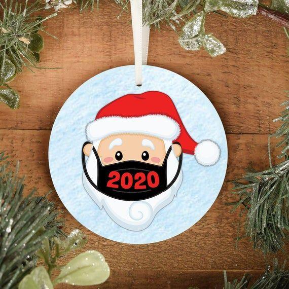 2020 Satin Christmas Year Ornament Pin on Christmas Decor