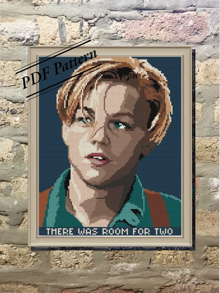 PDF Pattern: Leonardo DiCaprio Cross Stitch Pattern/Beginner/Gift For Her/Titanic/Modern/Wall Decor/Funny/Pop Culture/Portrait/Cute/Quote by SassiStitchBoutique on Etsy https://www.etsy.com/listing/573259285/pdf-pattern-leonardo-dicaprio-cross