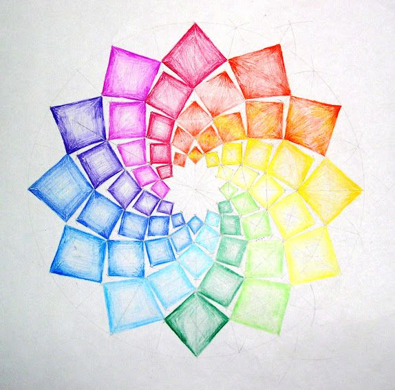 75 best images about drawings on pinterest trees for Creative color wheel
