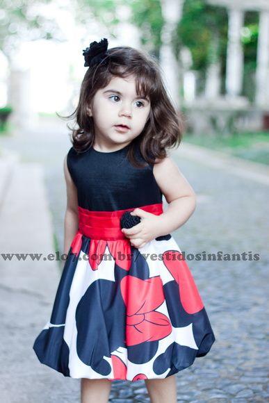 vestido infantil da Minnie baby