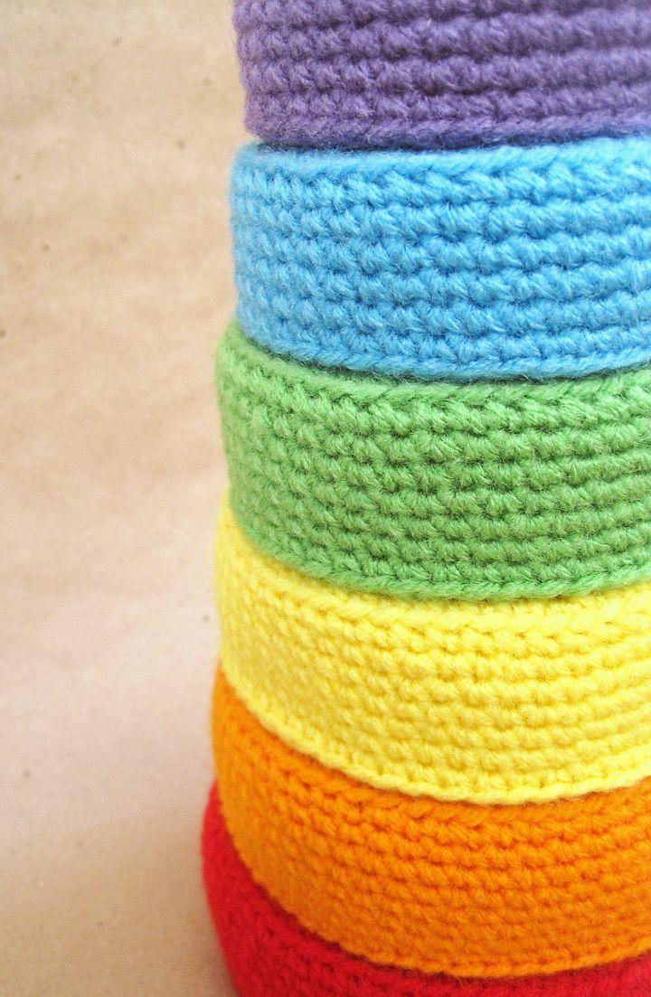 Mejores 51 im genes de crochet aka ganchillo en pinterest - Cesta de cuerda y ganchillo ...